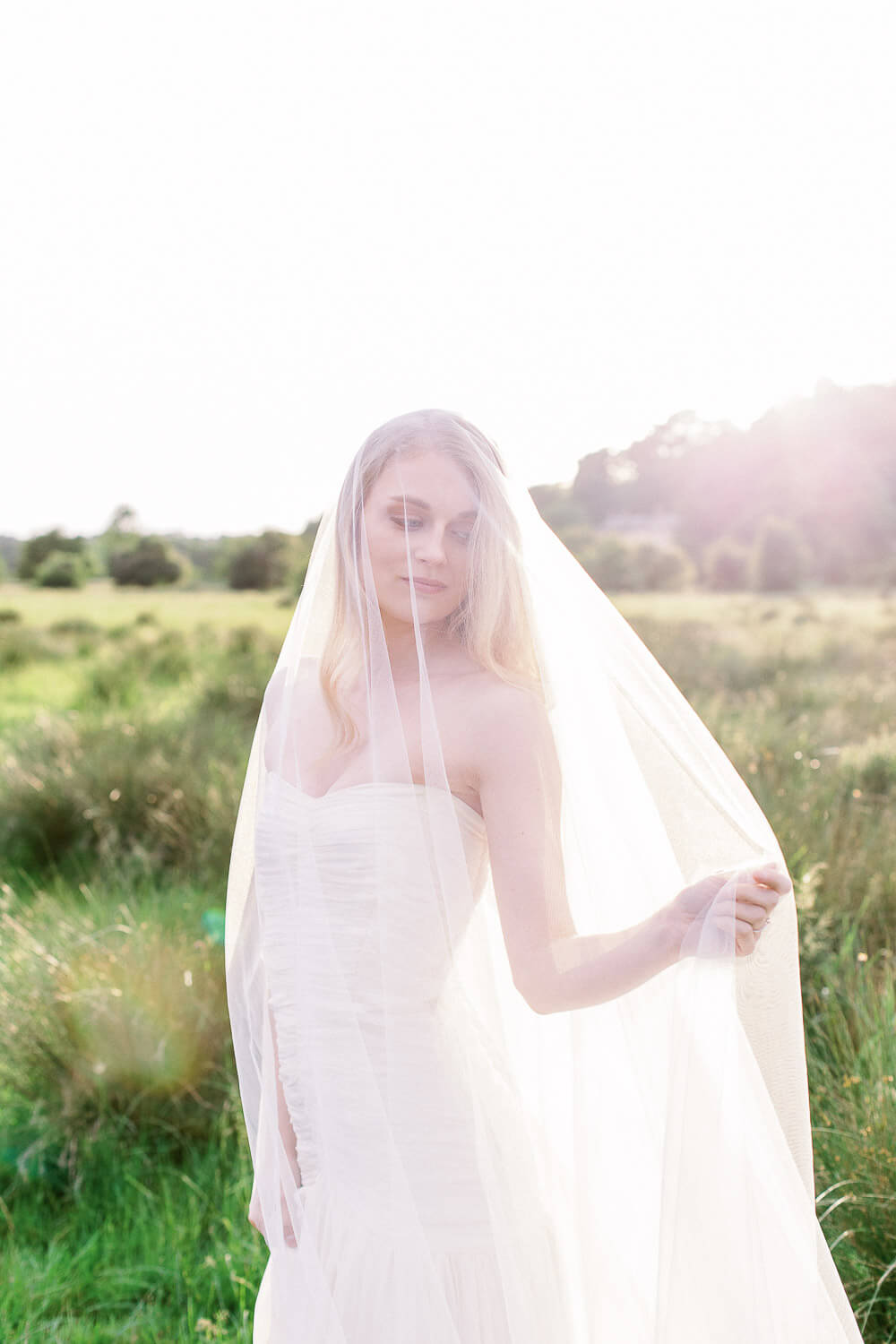 romantic veil for romantic wedding