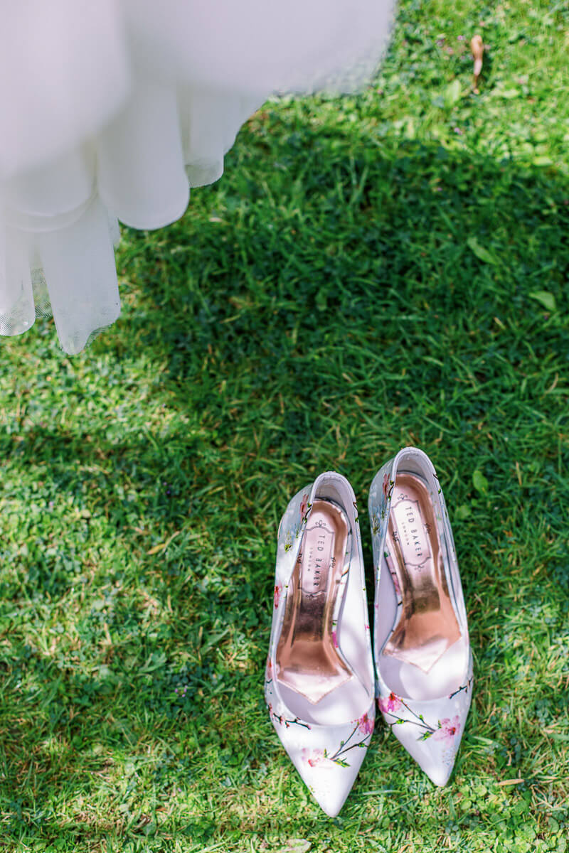 ted baker wedding shoes for romantic and modern bride
