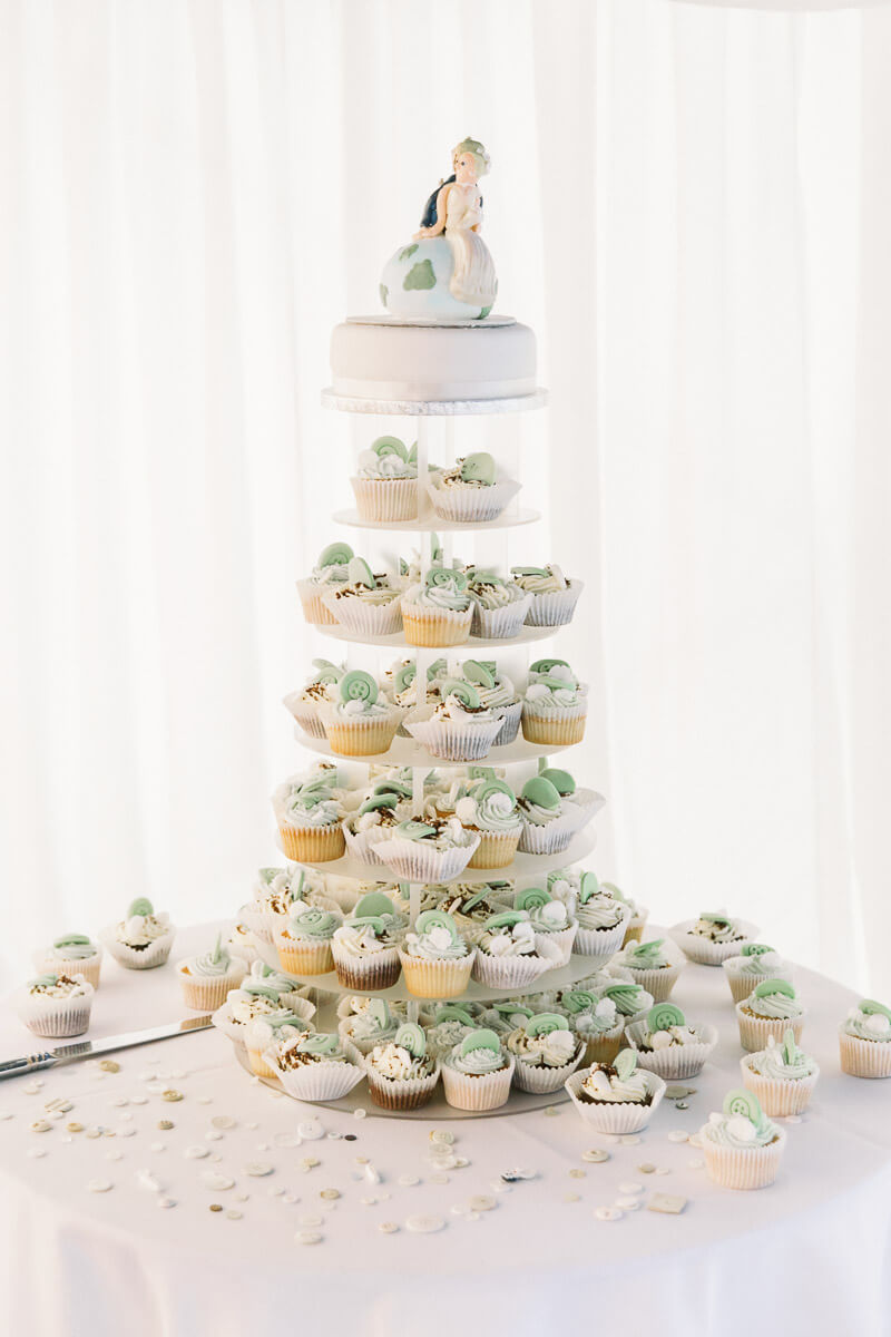beautiful cupcake wedding cake inspiration