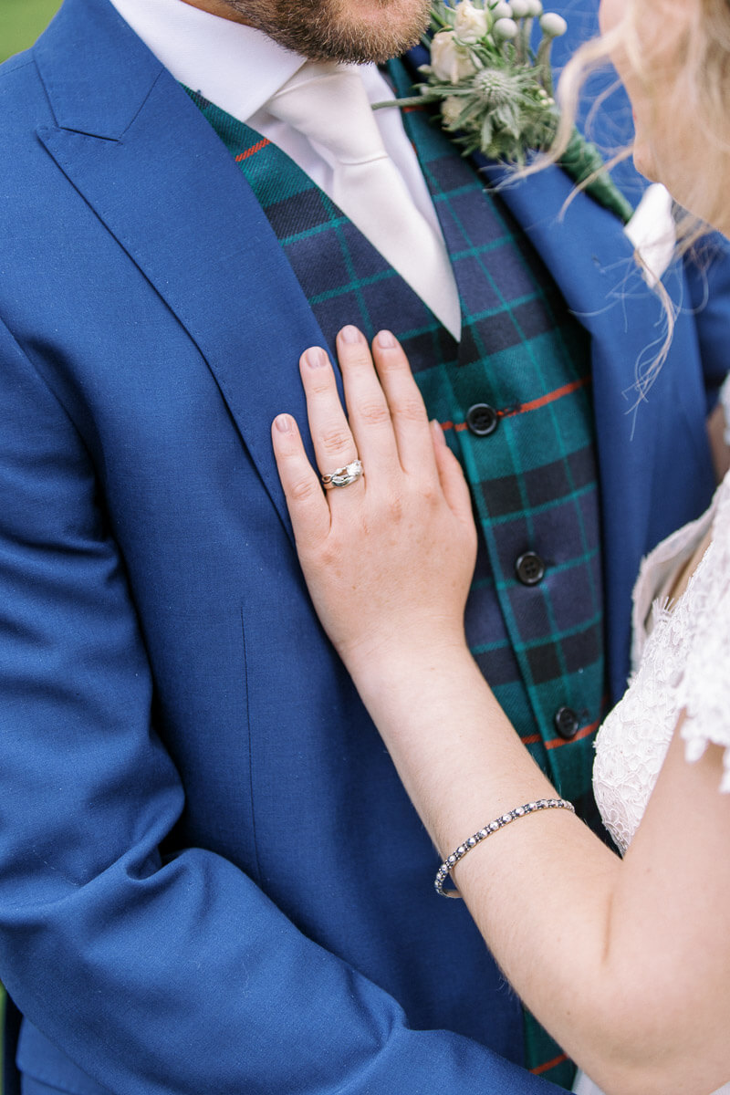 details of the wedding and engagement ring
