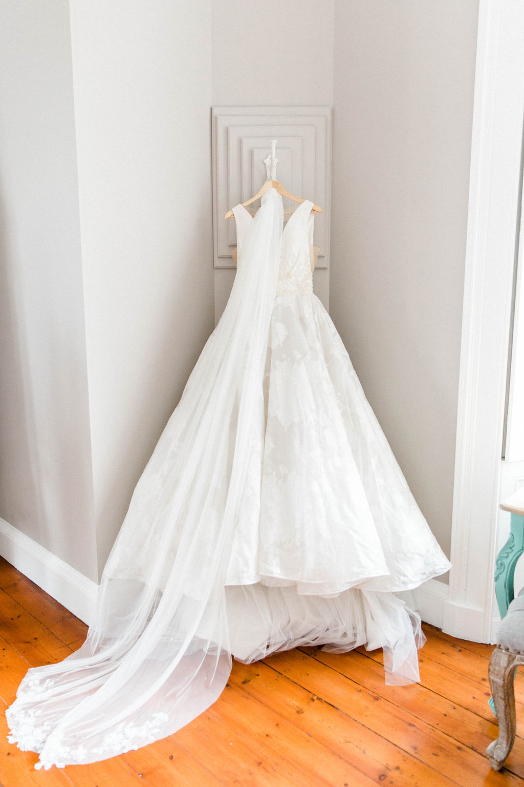 luxury wedding gown photo at the luxury wedding