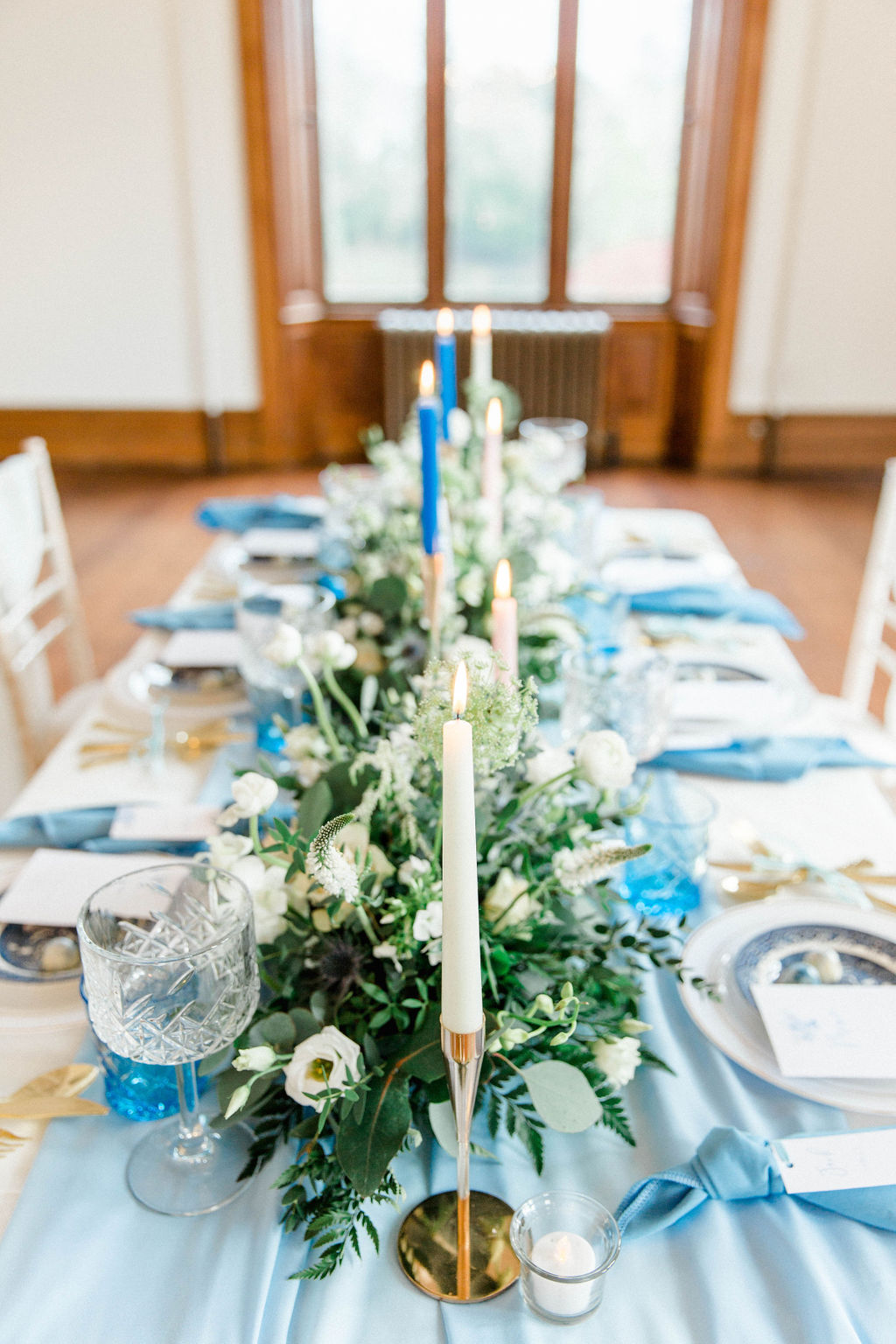 wedding table setting close up photo at romantic wedding