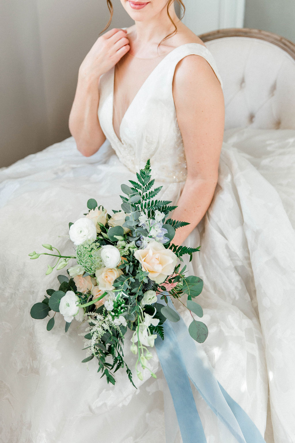 photo of the bridal bouquet