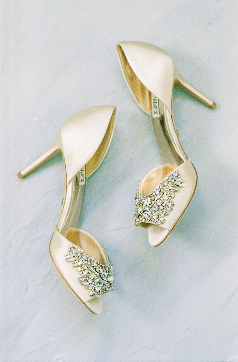 sparkly wedding shoes for romantic and fine art bride