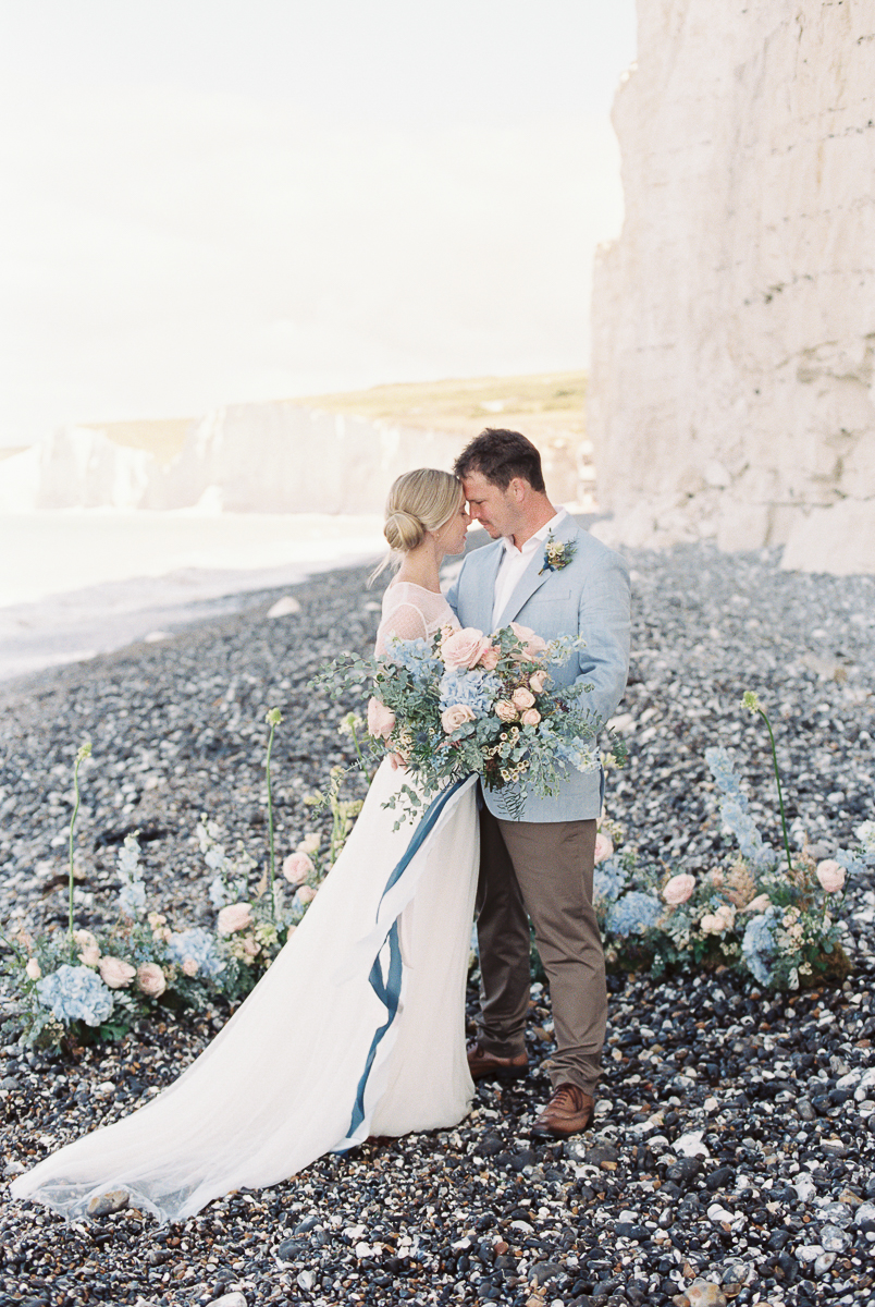 intimate wedding at the beach photography