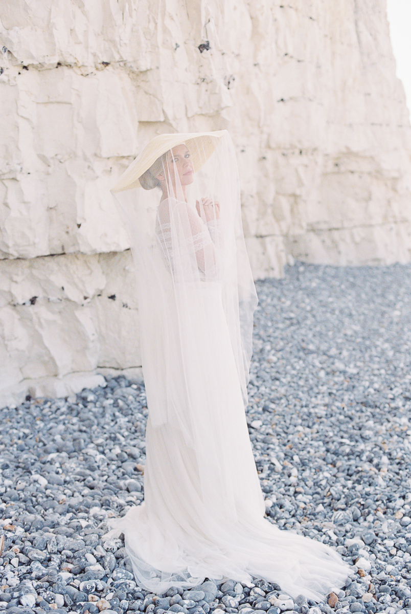 hat and the drop veil for the modern and timeless bride