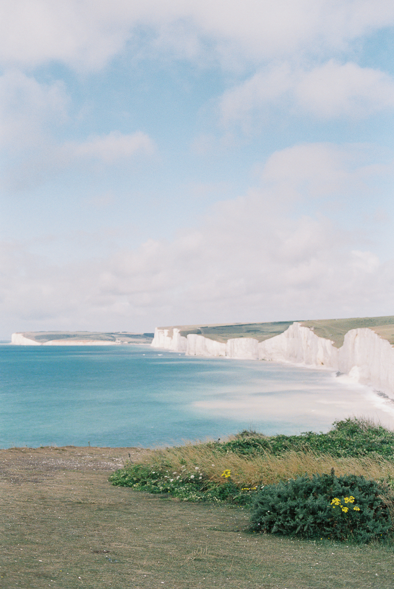 the view over the seven sisters and girling gap in sussex