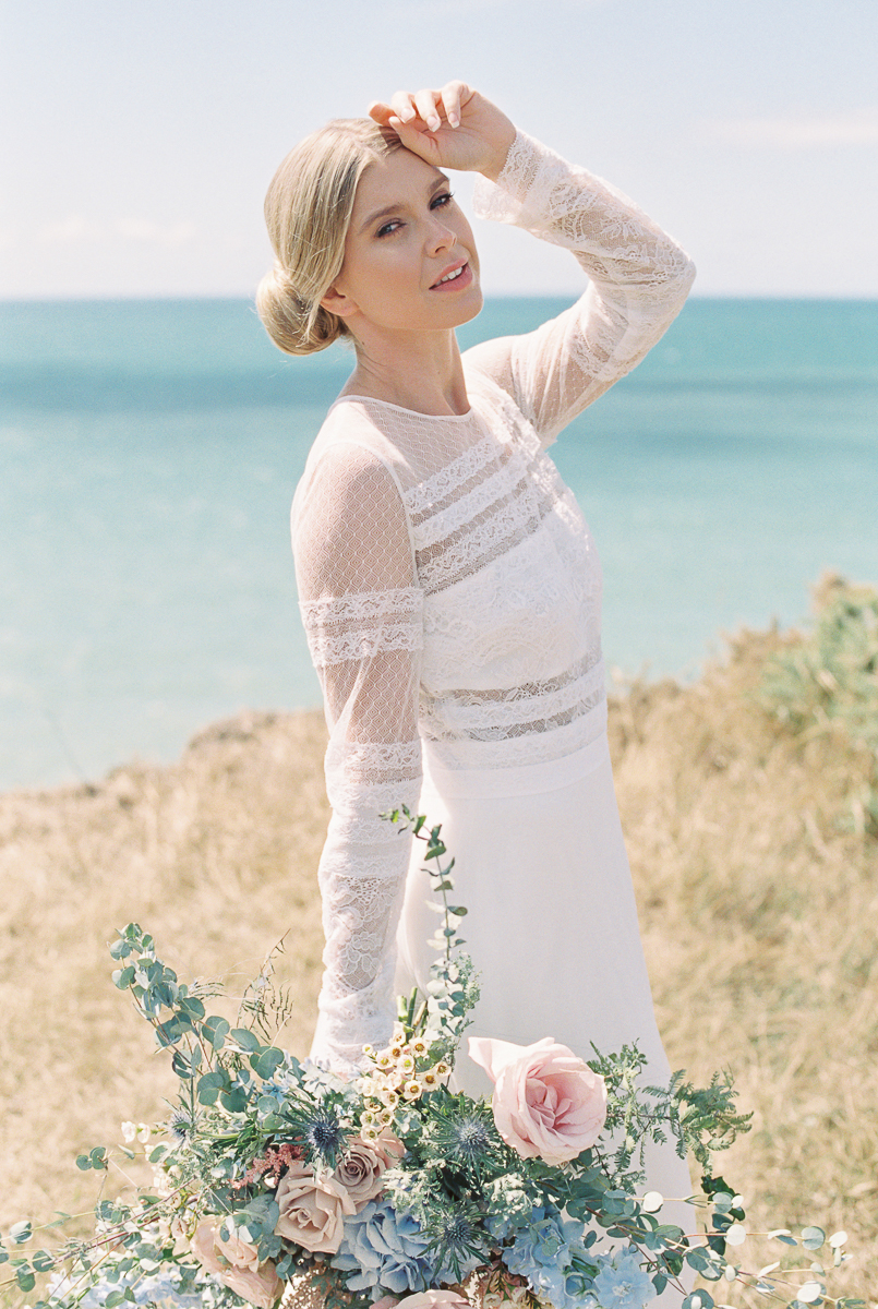 beautiful bride at their elopement wedding inspiration