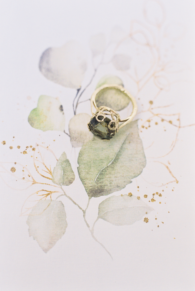 the beautiful cocktail ring in green