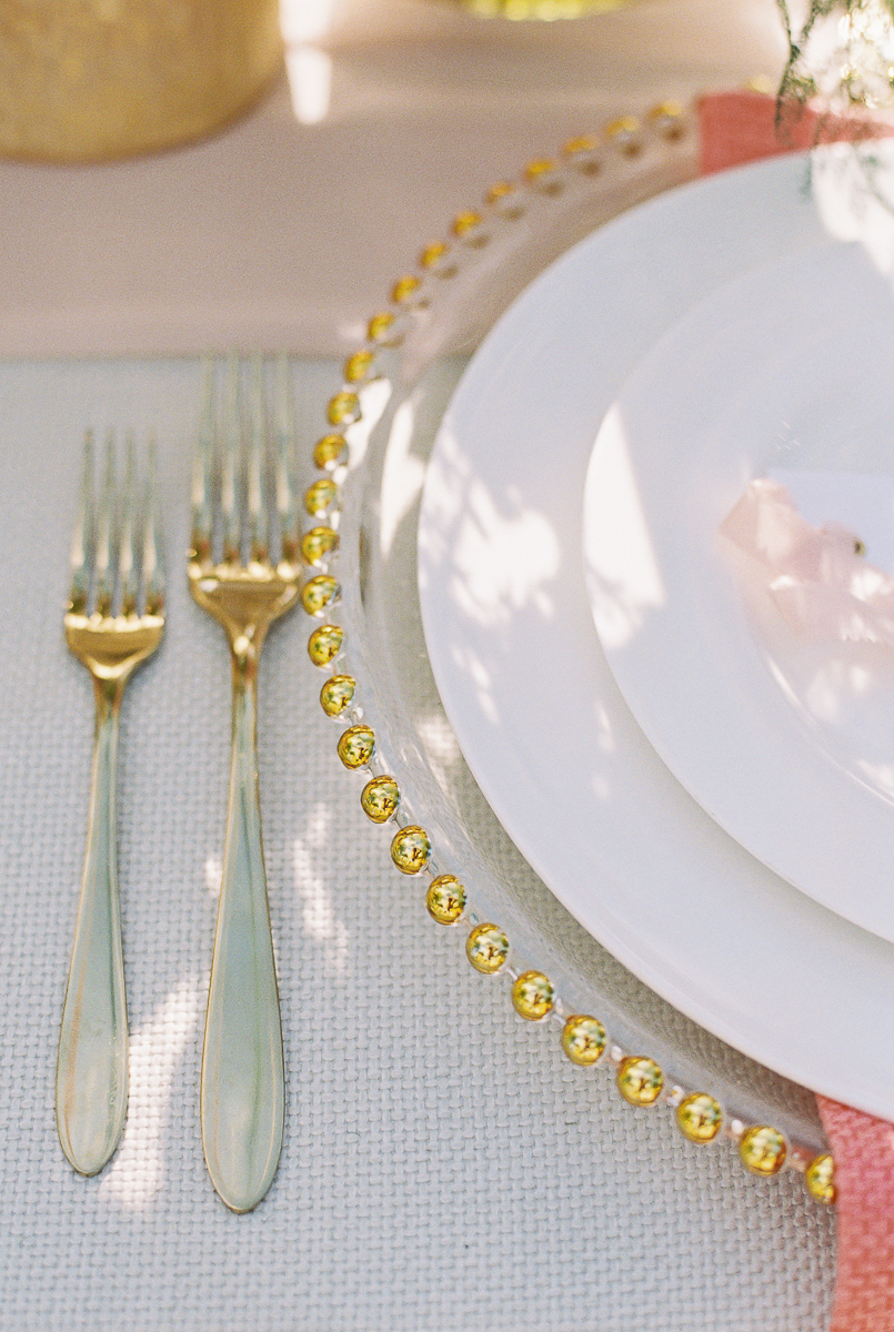 intimate wedding table scape