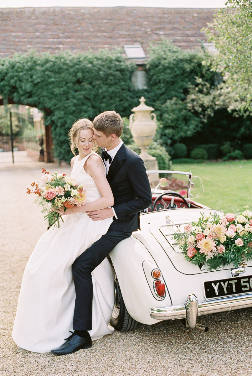 relaxed and natural photo of bride and groom