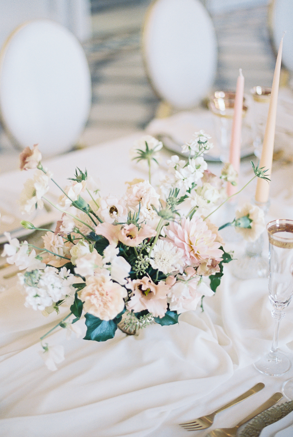 wedding table setting at Compton Verney