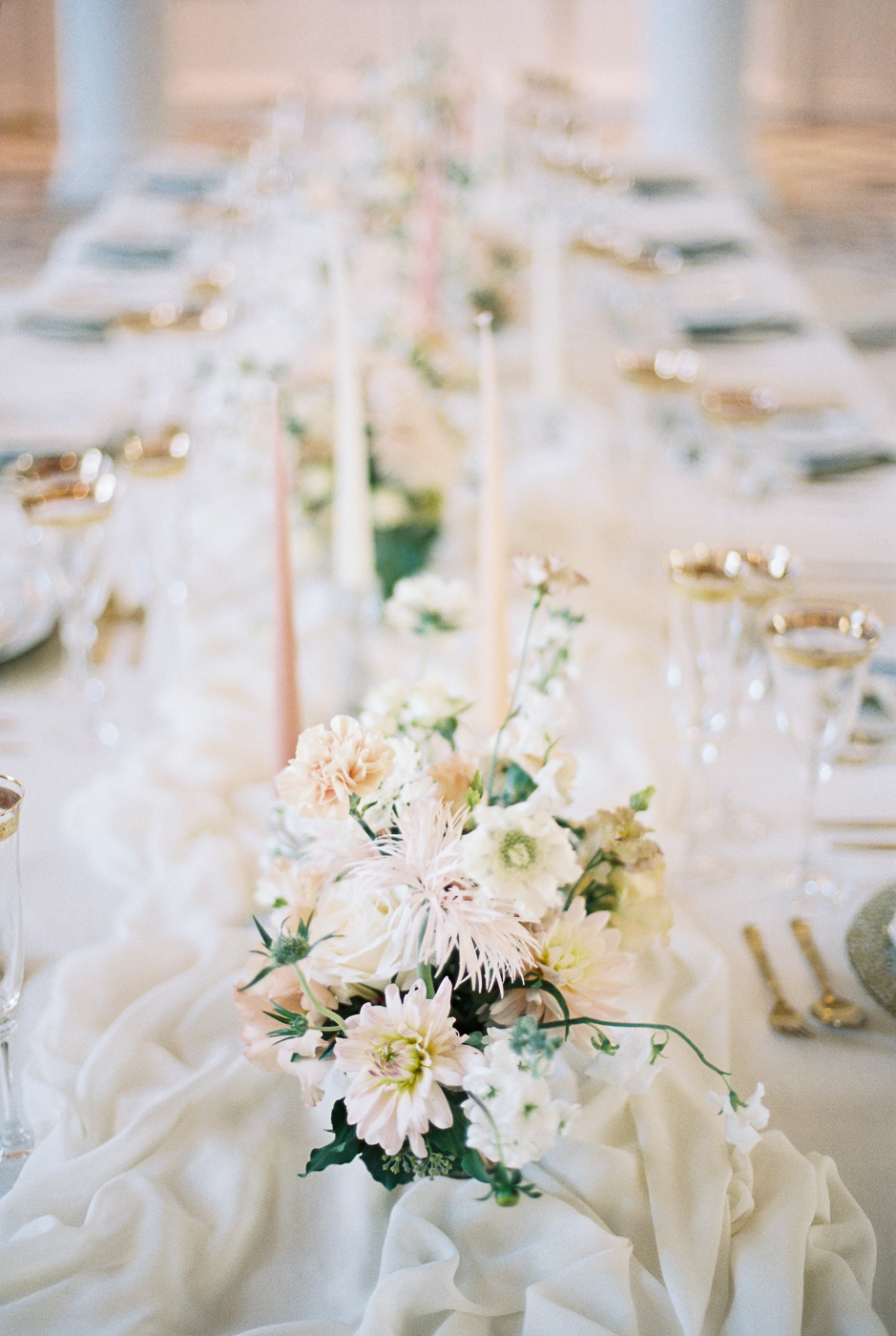 soft and romantic wedding table