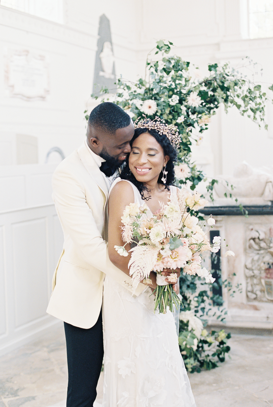 couple at the wedding chapel